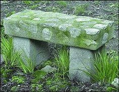 Hypertufa English Garden Bench