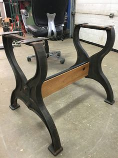 Cast Iron Table Base Stretcher Can Be Made To Any Length(pipes Only , Wood