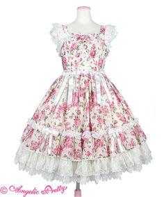 Dramatic Rose Princess JSK by Angelic Pretty Kawaii Dress, Kawaii Clothes, Kawaii Fashion, Lolita Fashion, One Step Beyond, Lolita Cosplay, Shops, Angelic Pretty, Japanese Fashion