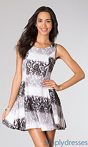 Buy Short Sleeve Lace Dress at SimplyDresses