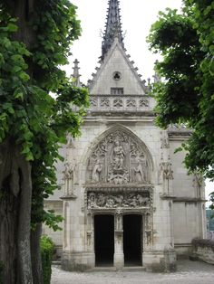 The chapel where Leonardo da Vinci is buried on the grounds of Chateau Amboise