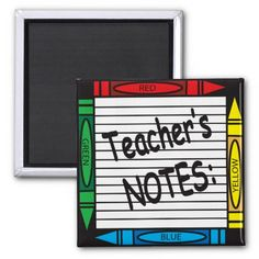 Teacher Note Magnet.  Great gift for Christmas or any other special day.  Look for more items in my store. Designs by DonnaSiggy.  #magnet,#teacher,#notes