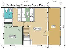 aspen log home plan first floor