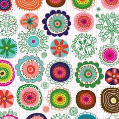 EcoJot pattern by Carolyn Gavin. Would make a great duvet set for a girl.1
