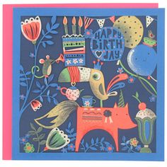 In With The New toucan party greeting card