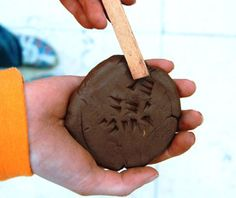 Making a cuneiform tablet from the British Museum
