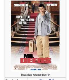 Funny I love most Adam Sandler movies Top Movies, Comedy Movies, Film Movie, Family Movies, Winona Ryder, Mr Deeds, Adam Sandler Movies, John Turturro, The Wedding Singer