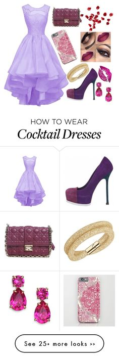 """""""Untitled #100"""" by sarooh2003 on Polyvore featuring Yves Saint Laurent, Christian Dior, Kate Spade, Swarovski and Oliver Gal Artist Co."""