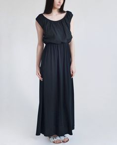 LABURNUM Organic Cotton Maxi Dress In Black - beaumont organic