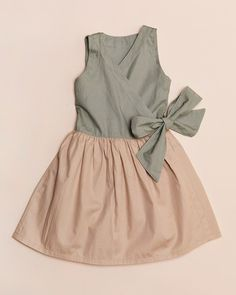 Simple and lovely faux wrap dress.