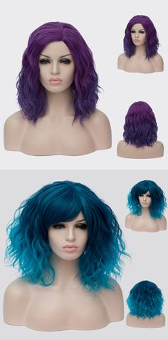 Wigsbuy supplies a variety of wigs in different colors. Visit to Wigsbuy and find one color wigs fit to you! Colored Wigs, Blue Wig, Bright Purple, Cosplay Wigs, One Color, Different Colors, Closer, Natural Hair Styles, Fairy