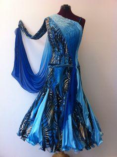 blue ballroom dress by DesignByNatasha, Etsy