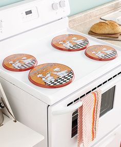Sets of 4 Electric Burner Covers