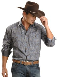 Stetson paisley snap western shirt and Stetson Hat-