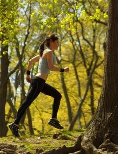 woman-running-trees-central-park