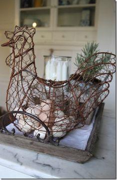 Chicken egg basket
