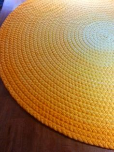 Deep yellow braided rug made from new cotton t by greenatheartrugs