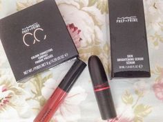 • MAC products that I got for my birthday •