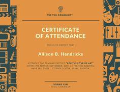 certificate template maker Free Online Certificate Maker: Design a Custom Certificate - Canva Attendance Certificate, Certificate Maker, Certificate Of Achievement Template, Certificate Templates, School Certificate, D School, Teacher Awards, Certificate Of Completion, Event Flyers