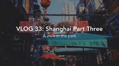 A brand new Vlog is up: head over to tibz.blog (or click the link in my bio) to check my latest Shanghainese adventures!