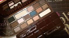Review, Swatches: Too Faced Cosmetics Semi-Sweet Chocolate Bar Palette - 16 New, Deeper Cocoa Powder Infused Eyeshadow Shades - GIVEAWAY | BeautyStat.com#beautystat