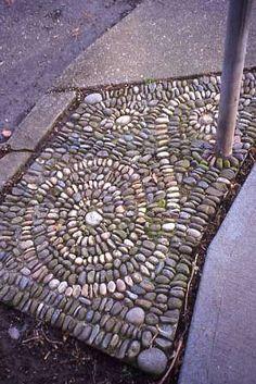 Stone Parking Strips  Mosaic Design