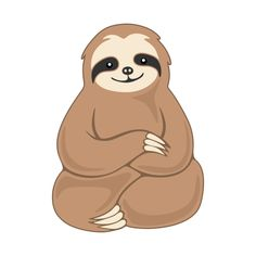 gregham how to draw a sloth sloth cute kawaii artoftheday for rh pinterest com sloth clipart black and white sloth face clipart