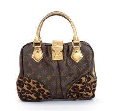 Louis Vuitton Monogram Canvas Leopard Adele Bag