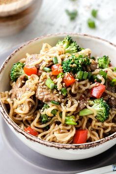 beef and broccoli noodle bowls beef and broccoli noodle bowls mlb made ...