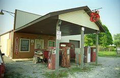 "Route 66 - Henry's Rabbit Ranch, Staunton, Illinois. ""The Fine Art Photography of Frank Romeo."""