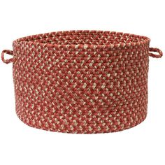 """Colonial Mills Allure Decorative Red Brick Braided Utility Stoarge Basket 14""""""""x14""""""""x10"""""""""""