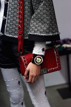 red quilted #bag :: Pre-Fall 2015 collection by #Chanel