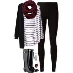 Black, burgundy & stripes