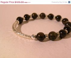 ON SALE Jazzy        Bronzite Sterling by ScorpionMoonDesigns, $87.50