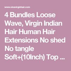 4 Bundles Loose Wave, Virgin Indian Hair Human Hair Extensions No shed No tangle Soft+(10Inch) Top Lace Closure ,5pcs DHL freeshiping [I4C009] - $98.00 : Welcome , to our shop!