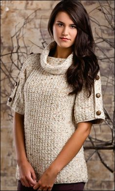 """Textured Treasure"" Crochet Sweater Pattern - Crochet! Magazine"