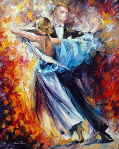 Leonid Afremov Waltz print for sale. Shop for Leonid Afremov Waltz painting and frame at discount price, ships in 24 hours. Popular Paintings, Surreal Artwork, Couple Painting, Dance Paintings, Dance Pictures, Oil Painting On Canvas, Canvas Art, Painting Art, Fine Art America
