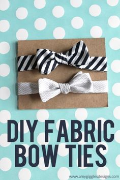 DIY Fabric Bow Ties. These are a great gift idea for the men and boys in your life!  | www.amygigglesdesigns.com