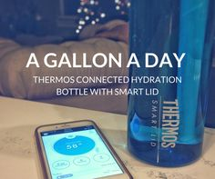 The ultimate solution to tracking water intake: Thermos Connected Hydration Bottle with Smart Lid