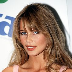 Claudia Schiffer - -haircolor and bangs