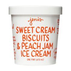 Sweet Cream Biscuits & Peach Jam - Jeni's Splendid Ice Creams