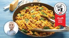 Try this one-pan pasta with sausage and spinach recipe from Stefano Faita. Spinach Recipes, Pasta Recipes, One Pan Pasta, Confort Food, Bolognese Sauce, Spinach Pasta, Sausage Pasta, Rigatoni