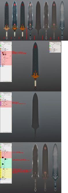 ゲームモデルやローポリにおけるテクスチャの作り方メモ - 電々伝記