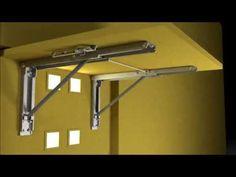 Wall Mounted Folding Brackets by Eureka MFG - YouTube