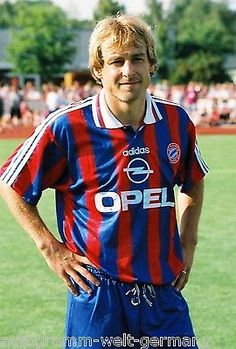 Jürgen Klinsmann Bayern München 1995-96 seltenes Foto+2