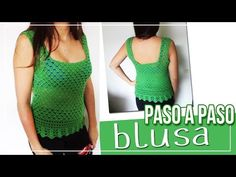 Blusa tejida en Crochet - Tutorial paso a paso - YouTube