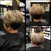 Cute angled Bob cut, great for thick hair!