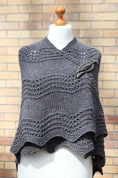 Ravelry: Old Shale Shawl pattern by Amanda Clark free pattern want done in rows of colors as shown in pictures