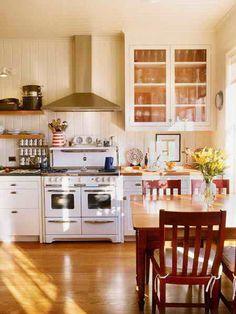 Cute cottage style kitchen.  Permanent Link to : Cottage Interior Design Ideas