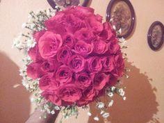 buquê de noiva rosa pink